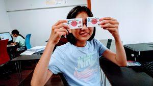 中学1年生 ワードで名刺作成 アラスカ留学へ